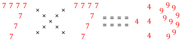 7 times 7