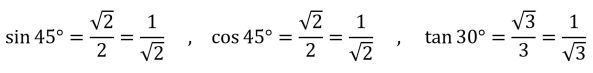 Trig Values
