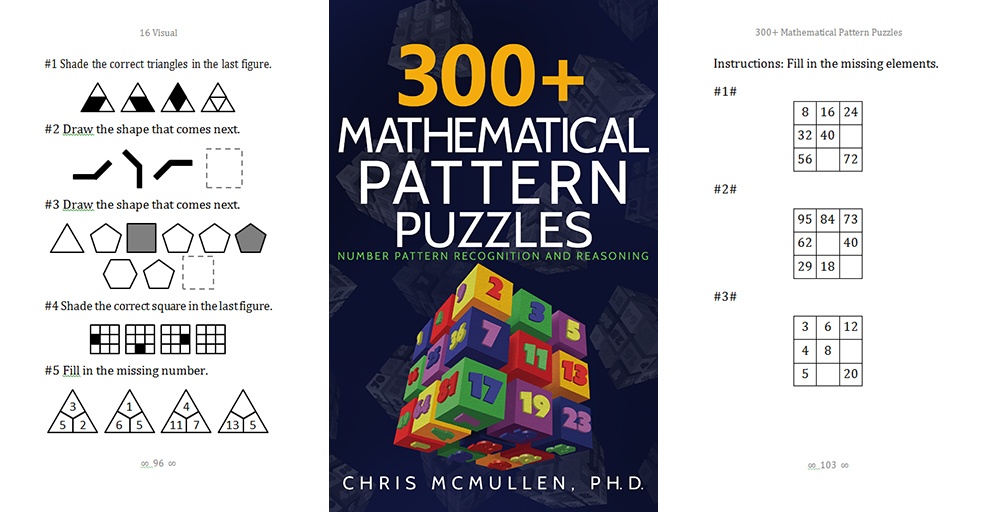 Five Math Puzzles (pattern recognition): Can You Solve Them