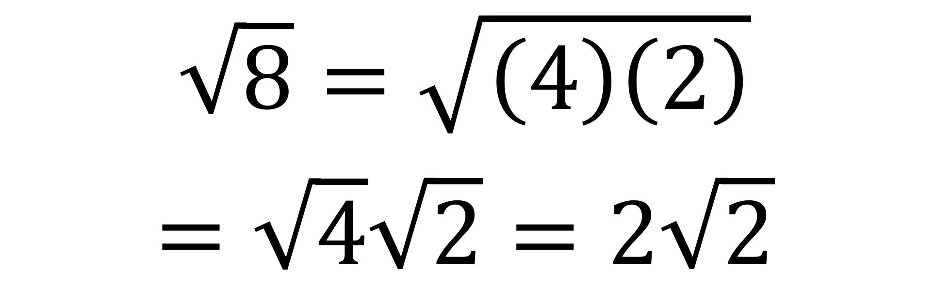 Note That 8 Equals 4 Times 2 The Number Is A Perfect Square Since Squareroot Of Put Another Way Squared